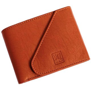 wallets for men in tan color 3 cards pockets(wenzest)