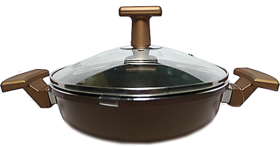 Forged aluminium non stick  induction kadai cookware from NOLTA