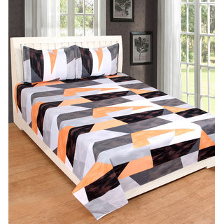 EXOTIC COTTON 1 DOUBLE BED SHEET WITH 2 PILLOW COVERS SSDB01