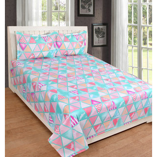 EXOTIC COTTON 1 DOUBLE BED SHEET WITH 2 PILLOW COVERS SSDB02