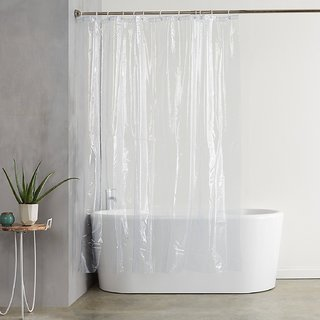 Khushi Creation PVC Transparent Shower Curtain - (4.5 X 7 Ft) or (52 X 82 Inches)