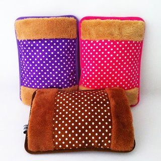 Electric Rechargeable Water based GEL Heating Heat Pad Fur Velvet with Hand Pocket Pain Relieve (ASSORTED COLOUR)