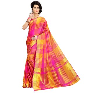 ca2b10abffcc7f Buy Indian Beauty Multicolor Art Silk Self Design Pink Saree With Blouse  Online - Get 64% Off
