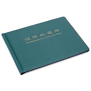 Aeoss Money Pocket Storage Coin Album Book 240 Holders Collection Trasnsparent Coin Purse Coin Purse Money Album (GREEN)