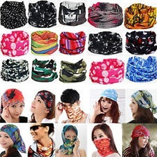 Bandana Headgear Bike Riding Neck Face Mask pack of 3