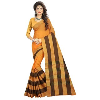 Rite Creations Yellow  Color Cotton  Saree -RI112_S_Yellow1