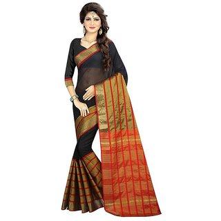 Rite Creations Black Color Poly Silk  Saree -RI89_S_black1