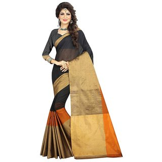 Rite Creations Orange Color Cotton  Saree -RI95_S_BOrange