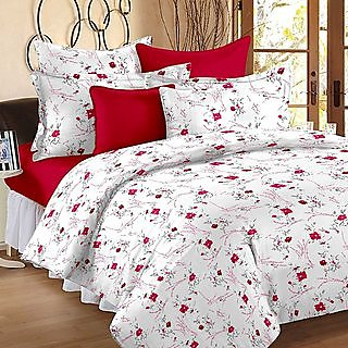 Story @ Home Lovely 150 Thread Count Cotton Magic Double Bed Sheet