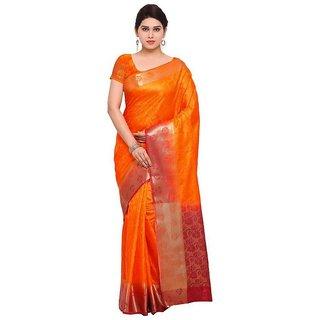 Rite Creations Orange  Color Nylon silk  Saree -RI137_S_Orange