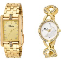 Timebre Origional Gold Analog Watch For Couple -560