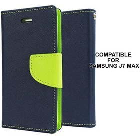 MOBIMON Mercury Diary Wallet Style Flip Cover For Samsung Galaxy J7 MAX - Blue