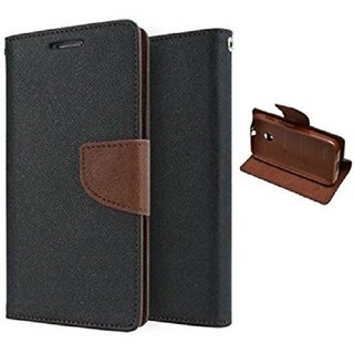 Samsung Galaxy J7 Prime Flip Cover by Sastaoutlet - Brown
