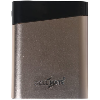 Callmate N4 8800 mAh Power Bank Dual USB With led torch light - Golden