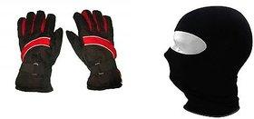 love4ride Pro Liner Winter Gloves Face Mask Combo