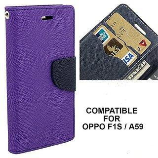 MOBIMON Mercury Goospery Fancy Diary Wallet Flip Cover for OPPO F1S / A59 - Purple