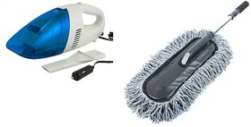 SSZ Combo of Car Vacuum Cleaner  Car Microfiber Brush