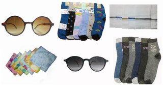 New Fashion Acessory Combo of Socks,Handkerchief,Glasses
