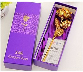 24k Gold Plated Rose With Box 04