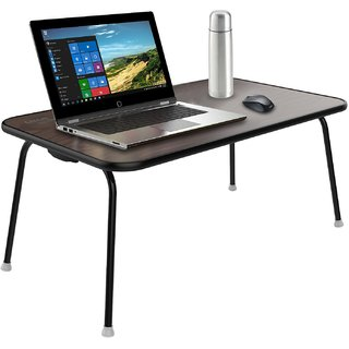 Gizga Essentials Multipurpose Table - Laptop Table Bed Table Premium Quality Foldable with Patented Hinges (Wenge)