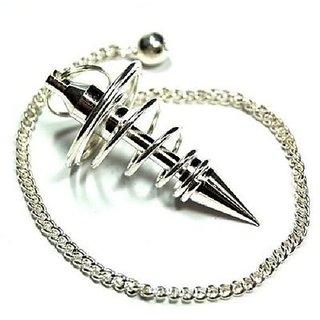 WHITE METAL Spiral Divination Pendulum Dowser ( HEALING DOWSING PENDULUM ).