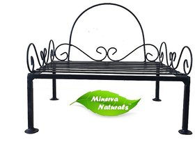 METAL STAND/ POT STAND BLACK - MINERVA NATURALS (ONLY STAND)