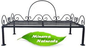 METAL STAND/ POT STAND BLACK - MINERVA NATURALS - (ONLY STAND)