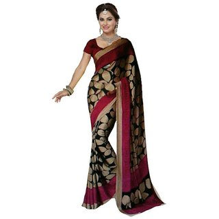 Svb Sarees Multicolour Bhagalpuri silk saree With blouse Piece