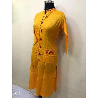 Stylish Pure Cotton kurti With Pocket