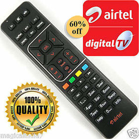 AIRTEL DTH REMOTE CONTROL with Recording FOR AIRTEL SD HD SET TOP BOX TD-R6