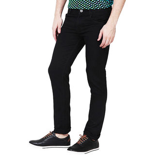Masterly Weft Men's Slim Fit Black Jeans