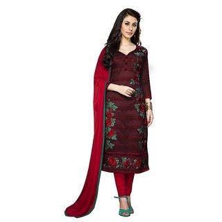DnVeens Women Pure Cotton Embroidered Unstiched Party Wear Suit Salwar Kameez Dress Material BLMDSNH1255 (Unstitched)