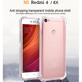 more photos 875c6 c4246 Redmi 4 / 4X Anti-Knock Design Shock Absorbent Bumper Soft Silicone  Transparent Back Case Cover.