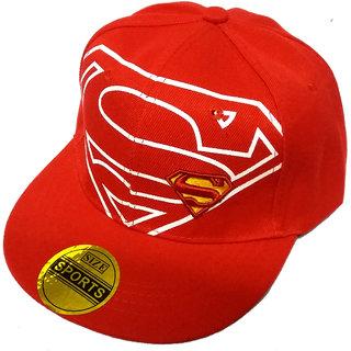 FRIENDSKART Superman Red Hip Hop Regular Cap