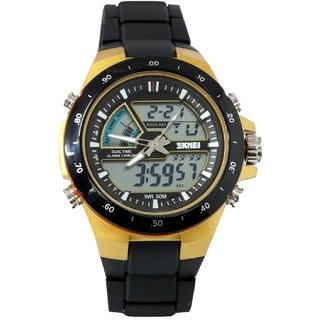 NG Waterproof Skmei Analogue-Digital Black Dial Mens Watch