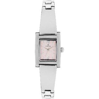 Maxima Quartz Pink Rectangle Women Watch 28251BMLI