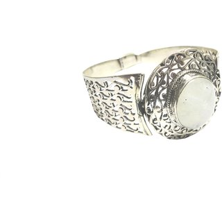 Shoppers Cave Stylish Sterling Silver Bracelet Setted With Rainbow Moon Stone