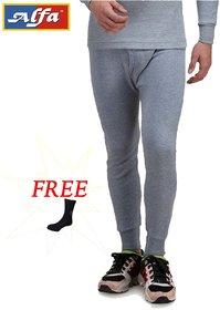Alfa Body Warmer Cotton Men's Thermal Wear (Lower) + 1 Free Socks