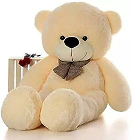 omnitex 5 feet cute  and soft teddy bear (cream)
