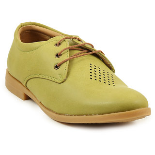 Quarks Men's Green Synthetic Casual Shoes