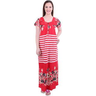 d9df15289 Buy Diljeet Women s Satin Nighty-(Red)-Strips Print Online - Get 75% Off