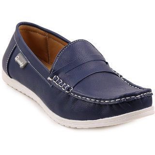 Quarks Men's Blue Synthetic Casual Loafers