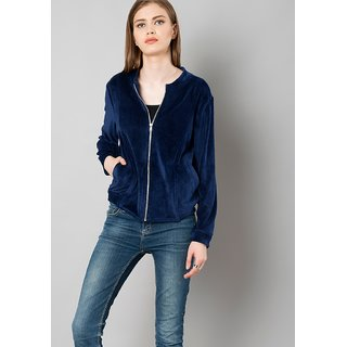 Raabta Navy Blue Velvet Jacket