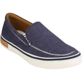 Quarks Men's Blue Smart Slip On Canvas Casual Shoes