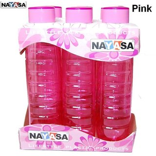 SSZ Nayasa Water Bottle pack of 6 color assorted
