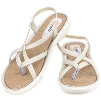 Ladies Sandal Digni Cream Flat (DDWF-Z-3-CREAM-40)