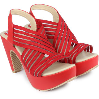 b6fe6f8d25a0 Buy Ladies Sandal Digni Red Cone Heels (DDWF-R-5-RED-41) Online - Get 1% Off
