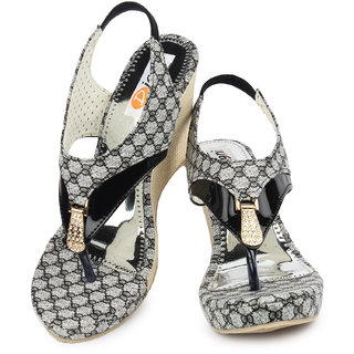 4f1642f8f31 Buy Ladies Sandal Digni Black Wedges (DDWF-B-25-BLACK-37) Online ...