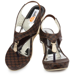 a39712f5d79 Buy Ladies Sandal Digni Brown Wedges (DDWF-B-25-BROWN-36) Online - Get 1%  Off