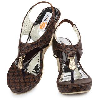 311cc405931f Buy Ladies Sandal Digni Brown Wedges (DDWF-B-25-BROWN-39) Online - Get 1%  Off